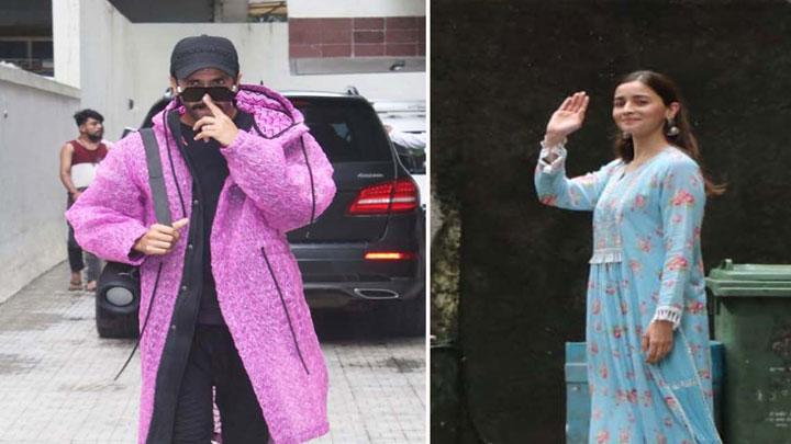 Ranveer Singh and Alia Bhatt spotted at Old Dharma Office