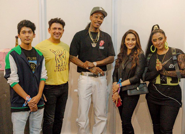 Madhuri Dixit has a fan-girl moment with American rapper Wiz Khalifa