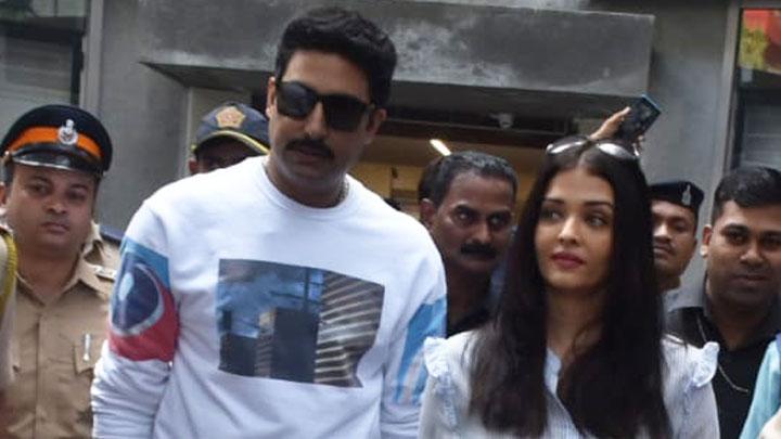 Aishwarya Rai Bachchan & Abhishek Bachchan cast their vote in Mumbai