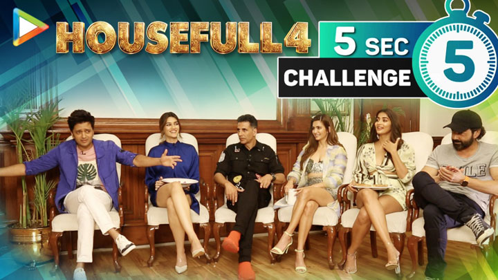 Akshay Housefull 4 - Hit, Superhit, Blockbuster 5 Second Challenge with Housefull 4 Team Riteish Kriti