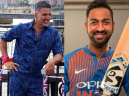 Akshay Kumar is floored by Krunal Pandya's attempt at The Bala Challenge!
