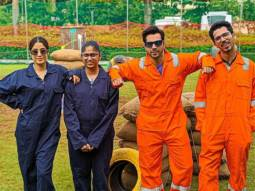 EXCLUSIVE VIDEO: Varun Dhawan and Janhvi Kapoor play paintball with their fans