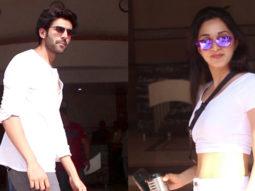 Kartik Aaryan and Kiara Advani spotted at Anees Bazmee office for Bhool Bhulaiyaa 2