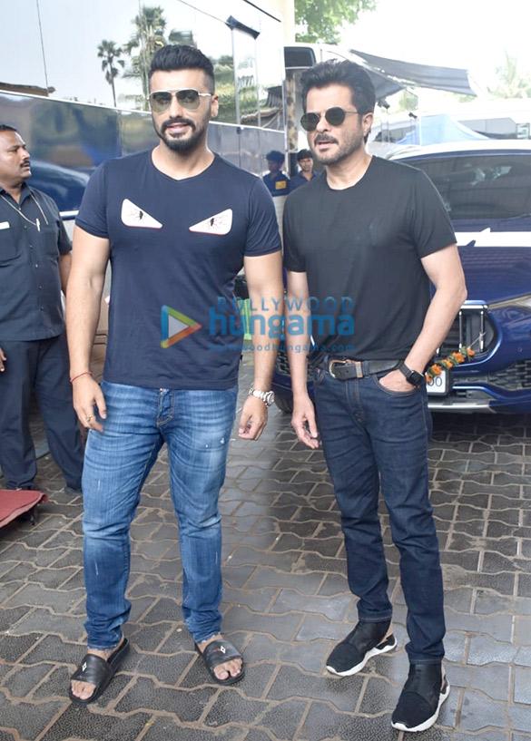 Photos: Arjun Kapoor and Anil Kapoor snapped on the sets of Movie Masti with Maniesh Paul