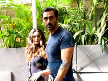 Photos: Arjun Rampal snapped with Gabriella Demetriades at Pali Hill, Bandra