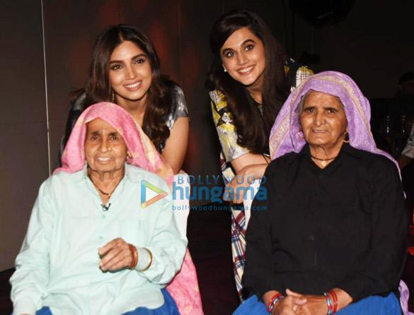 Photos Bhumi Pednekar and Taapsee Pannu snapped promoting their film Saand Ki Aankh (6)