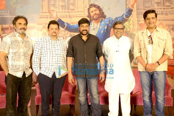 Photos Chiranjeevi and Ravi Kishan grace the success meet of 'Syeraa Narasimha Reddy' (1)
