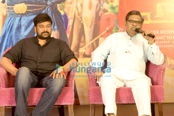 Photos Chiranjeevi and Ravi Kishan grace the success meet of 'Syeraa Narasimha Reddy' (3)