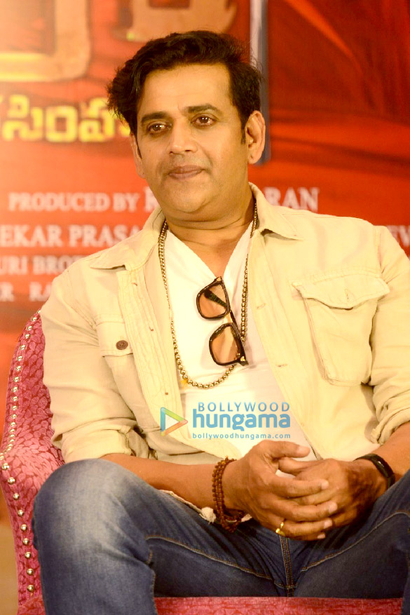 Photos Chiranjeevi and Ravi Kishan grace the success meet of 'Syeraa Narasimha Reddy' (4)