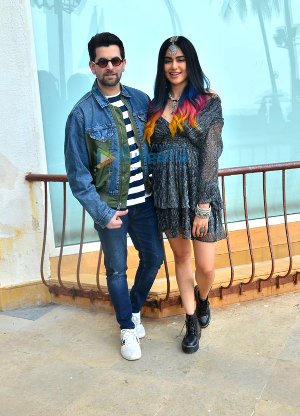 Photos Neil Nitin Mukesh, Adah Sharma and Naman Nitin Mukesh snapped promoting their film Bypass Road (2)