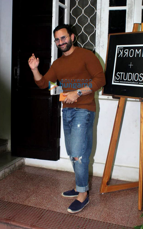Photos: Saif Ali Khan spotted at Krome studio in Bandra