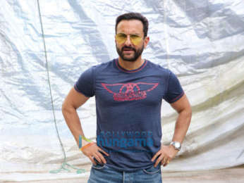 Photos: Saif Ali Khan spotted during the promotions of Laal Kaptaan