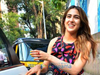 Photos: Sara Ali Khan and Varun Dhawan snapped at David Dhawan's office in Juhu