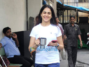 Photos: Shahid Kapoor and Genelia D'Souza snapped at the gym