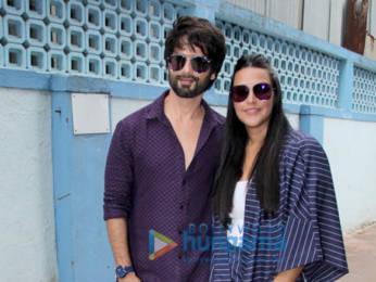 Photos: Shahid Kapoor and Neha Dhupia snapped on sets of the show #NoFilterNeha Season 4