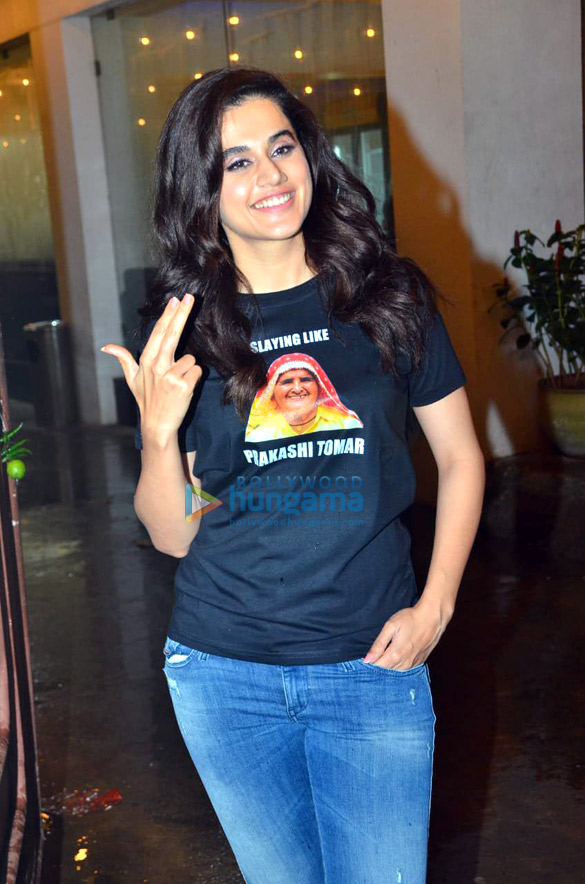 Photos Taapsee Pannu and Bhumi Pednekar spotted at Sunny Super Sound in Juhu (3)