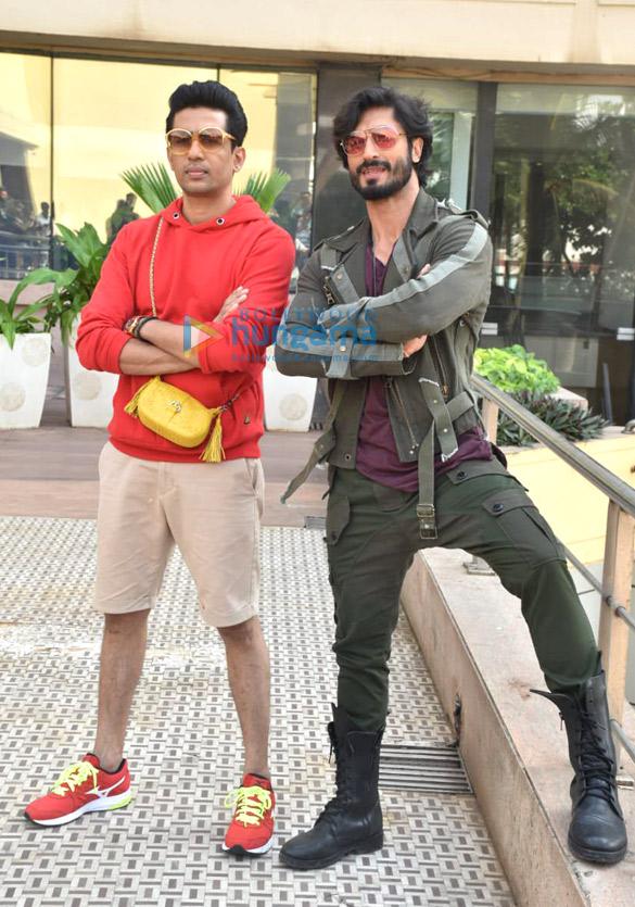Photos: Vidyut Jammwal and Gulshan Devaiah snapped during Commando 3 promotions