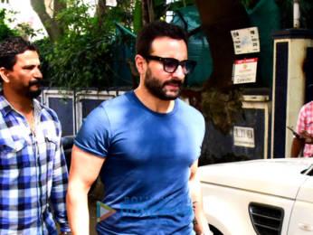 Photos: Saif Ali Khan snapped at a dubbing studio in Bandra
