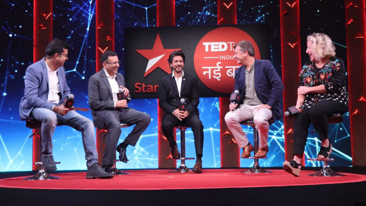 Shah Rukh Khan and others grace the press conference of TED Talks India- Nayi Baat Part 2