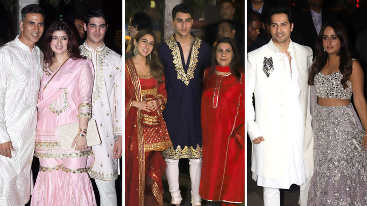 UNCUT Akshay Kumar, Sara Ali Khan, Varun Dhawan & others at Amitabh Bachchan's Grand Diwali Bash