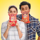 Alia Bhatt and Ranbir Kapoor 'smile right back at you' in this still from their upcoming TV commercial