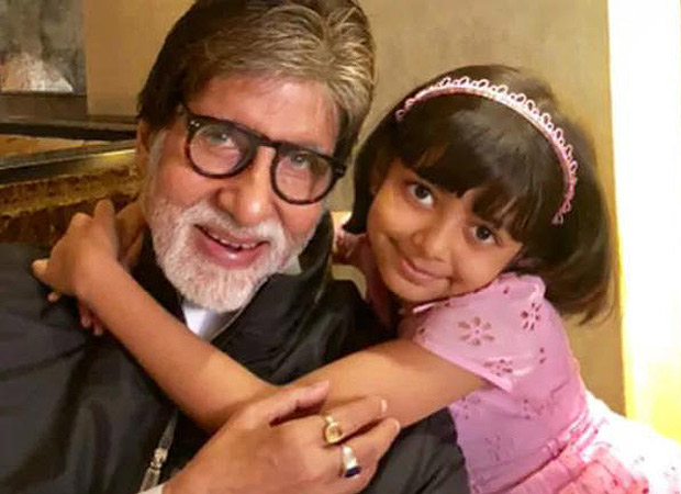 Amitabh Bachchan flashes a warm smile as he poses with granddaughter Aaradhya on 77th birthday