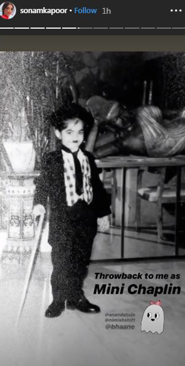 Throwback: On Halloween, Sonam Kapoor shares a picture of herself dressed as 'Mini Chaplin'
