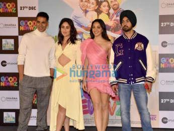 Photos Akshay Kumar, Kareena Kapoor Khan, Kiara Advani, Diljit Dosanjh and Karan Johar grace the trailer launch of Good Newwz