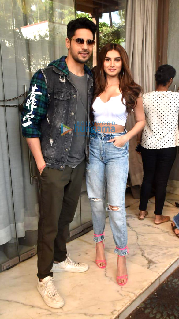 Photos: Sidharth Malhotra and Tara Sutaria snapped promoting their film Marjaavaan
