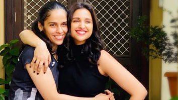 REEL AND REAL Parineeti Chopra poses with Saina Nehwal a month before she begins shoot for the biopic