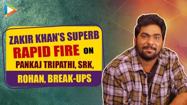ROFL Zakir Khan REVEALS how he deals with BREAK-UP SRK Rohan Rapid Fire