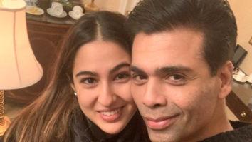 Sara Ali Khan and Karan Johar pose for a quick selfie in New York