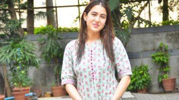 Sara Ali Khan spotted at Anand L Rai Office, Andheri
