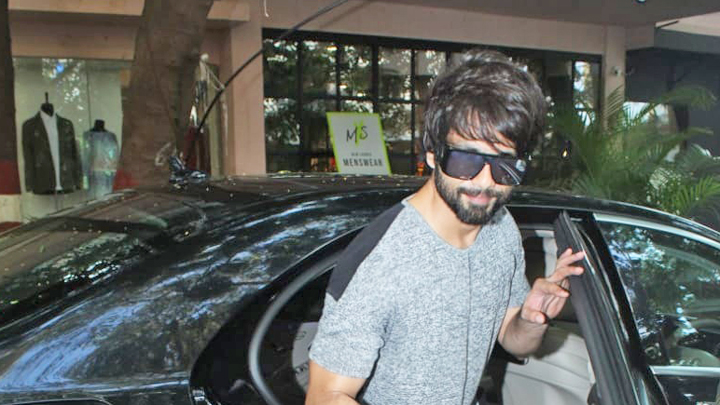 Shahid Kapoor spotted at Antigravity Gym, Pali Hill