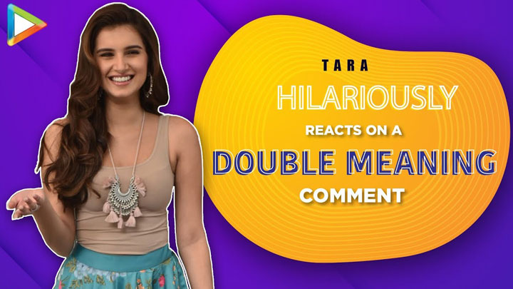 Tara Sutaria LAUGHS Madly on DOUBLE MEANING PHRASE by Media Person Marjaavaan