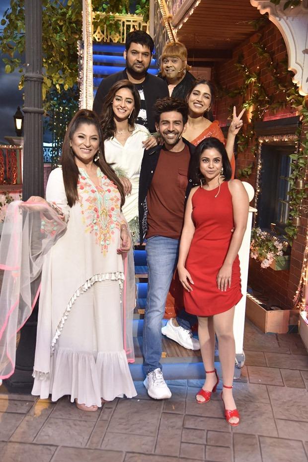 The Kapil Sharma Show - Kartik Aaryan was rewarded kisses after shooting 'Dheeme Dheeme' song with Ananya Panday and Bhumi Pednekar