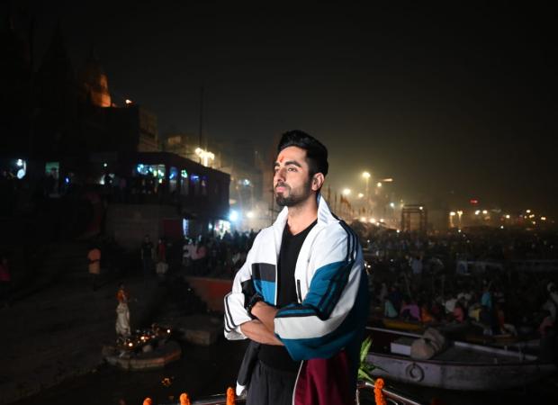 Ahead of the release of Bala, Ayushmann Khurrana visits the famous ghats of Varanasi