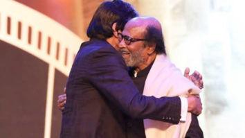 IFFI 2019: Amitabh Bachchan and Rajinikantn share a moment of camaraderie at the inaugural ceremony