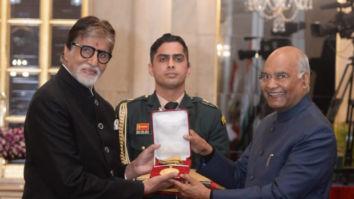 Amitabh Bachchan receives Dadasaheb Phalke Award from President Ram Nath Kovind in New Delhi