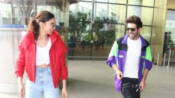Deepika Padukone & Kartik Aaryan have a DANCE OFF on 'Dheeme Dheeme' at the Airport