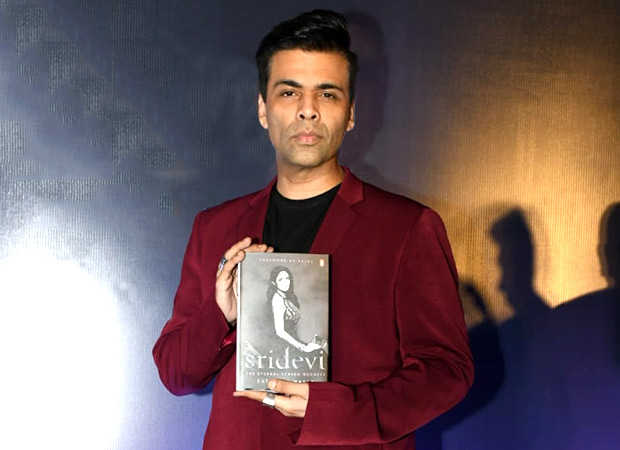 Karan Johar admits to being the biggest fan of Sridevi at the launch of Sridevi The Eternal Screen Goddess