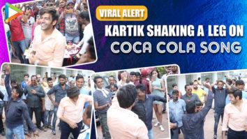 Kartik Aaryan's INSANE Dance Moves on Coca Cola song on the sets of Pati Patni Aur Woh Ananya