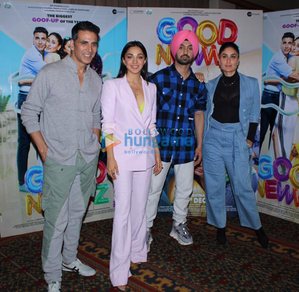 Photos Akshay Kumar, Kareena Kapoor Khan, Kiara Advani and Diljit Dosanjh snapped promoting their film Good Newwz (10)