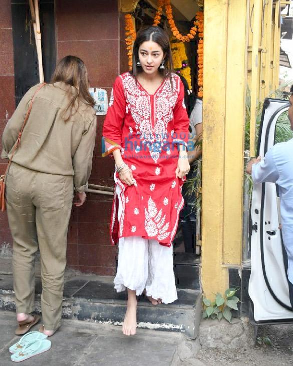 Photos: Ananya Panday and Bhavana Pandey snapped at Shani Temple