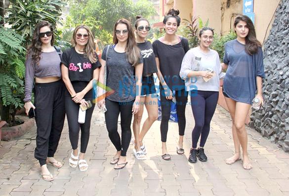 Photos: Malaika Arora, Seema Khan, Rhea Chakraborty and others spotted at Diva Yoga
