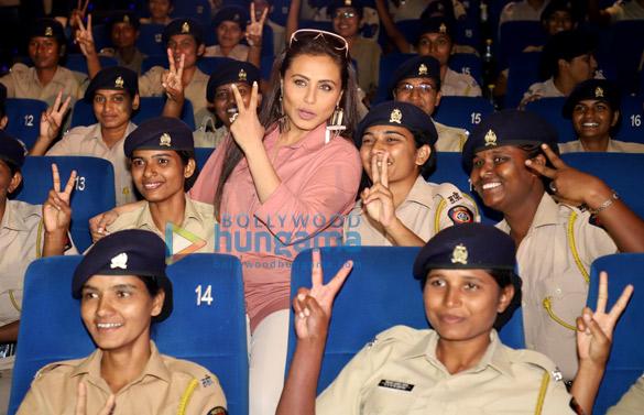 Photos Rani Mukerji hosts a special screening of Mardaani 2 for Mumbai Police officers (2)
