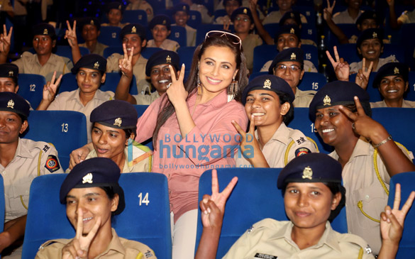 Photos Rani Mukerji hosts a special screening of Mardaani 2 for Mumbai Police officers (5)
