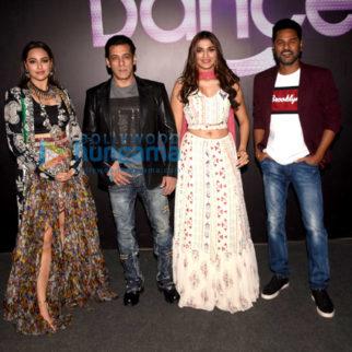 Photos: Salman Khan, Sonakshi Sinha, Saiee Manjrekar and Prabhu Dheva snapped promoting their film Dabangg 3 on the sets of Dance Plus