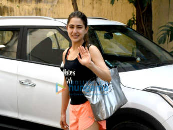 Photos: Sara Ali khan, Janhvi Kapoor, Sharmin Segal and Namrata Purohit spotted at Pilates class