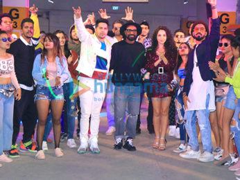 Photos: Varun Dhawan, Nora Fatehi and Remo DSouza grace the song launch of 'Garmi' from their film 'Street Dancer 3D'